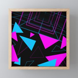 Synth Triangles Framed Mini Art Print
