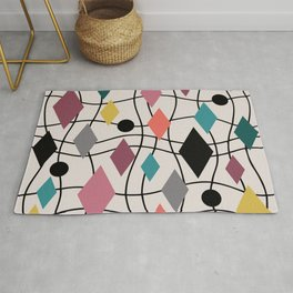 Colorful Mid Century Modern Geometric Abstract 122 Rug
