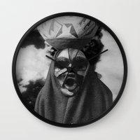 demon Wall Clocks featuring Demon by Mrs Araneae