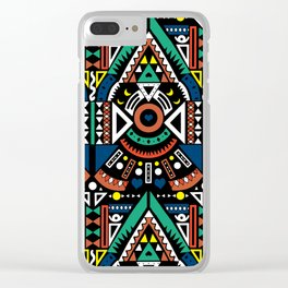 Geometric Power Clear iPhone Case
