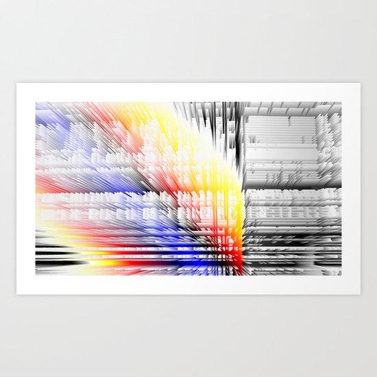 city color fabric Art Print