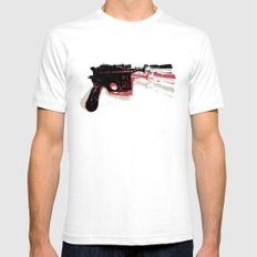 Blaster (Right) White SMALL Mens Fitted Tee