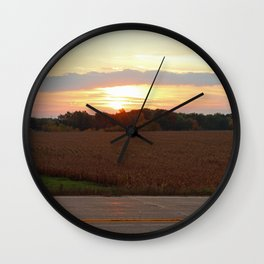 Country Morning Sunrise Wall Clock