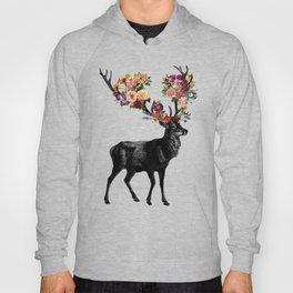 Spring Itself Deer Floral (Cream) Hoody