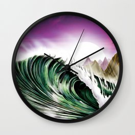 Midnight In Kauai Wall Clock