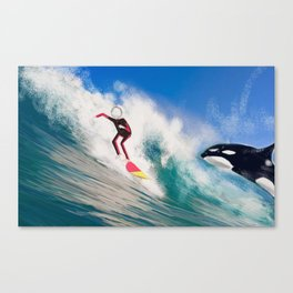 Corky's surfing Canvas Print