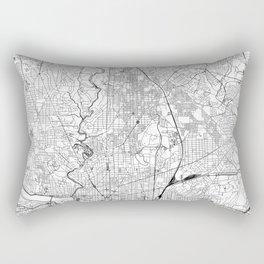 Washington D.C. White Map Rectangular Pillow