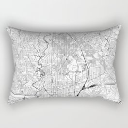 Washington D.C. White Map Rectangular Pillow