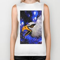 eagle Biker Tanks featuring Eagle by Saundra Myles