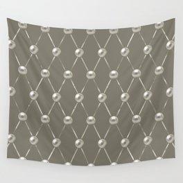 Faux Pearls Lattice Pattern Wall Tapestry