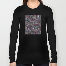 midnight fantasy butterflies aflutter Long Sleeve T-shirt