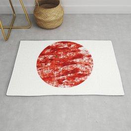 Flag of japan 3- Chalk version. Rug