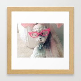 pussycat glasses Framed Art Print