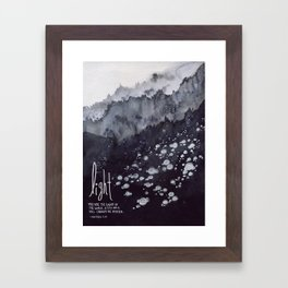 Light of the World, City on a Hill - Matthew 5:14 Framed Art Print