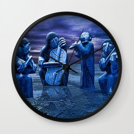 Music Frozen In Time. Wall Clock
