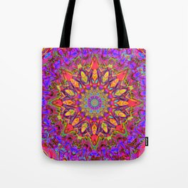 Abstract Flower AAA QQ YY Tote Bag