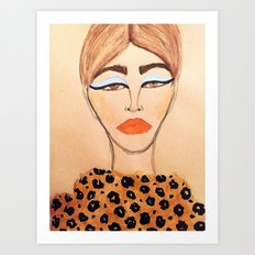 Leopard Coat Art Print
