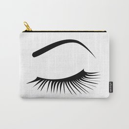 Closed Eyelashes Left Eye Carry-All Pouch