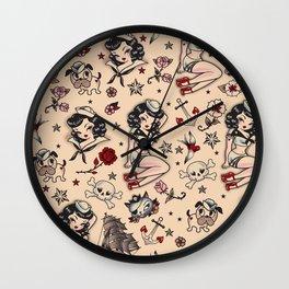 Suzy Sailor Pattern Wall Clock