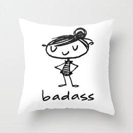bad-ass Throw Pillow