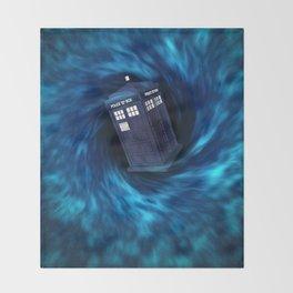 """TARDIS """"Dr. WHO"""" Throw Blanket"""