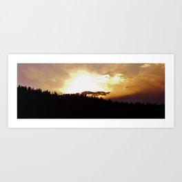 Sunset in Divide Art Print