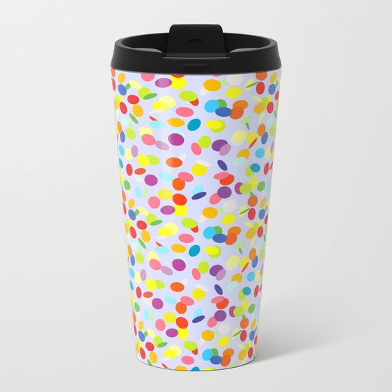 Festive confetti pattern Metal Travel Mug