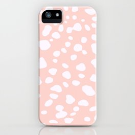 Pink Coral Spotty Dots iPhone Case