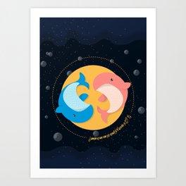 Ballena Espacial Art Print