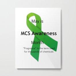 MCS Awareness Metal Print