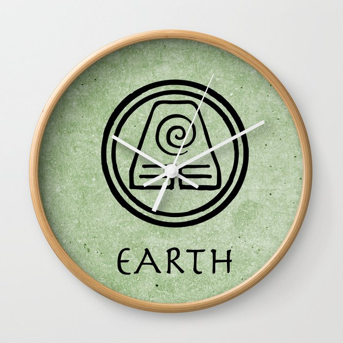 Avatar Last Airbender Elements Earth Wall Clock By Briandublin