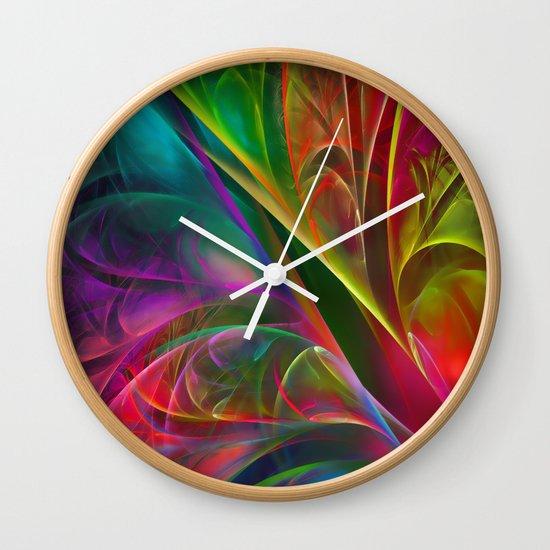 Fabulous Petals Wall Clock