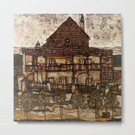 """Egon Schiele """"House with Shingle Roof (Old House II)"""" Metal Print"""