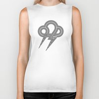 lightning Biker Tanks featuring Lightning by Heiko Hoos