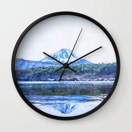 Japan watercolor painting #2 Wall Clock