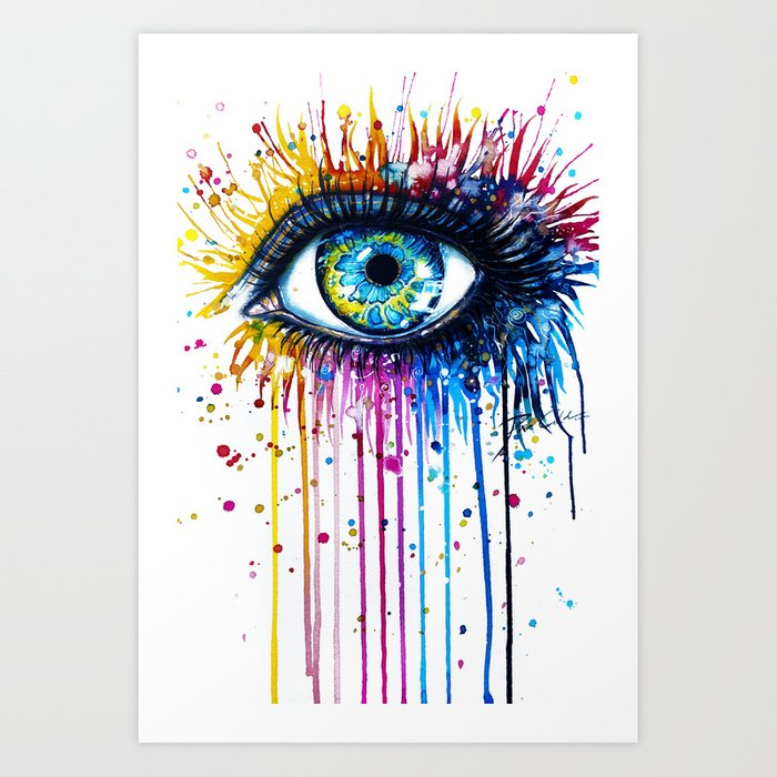 Quot Rainbow Eye Quot Art Print By Peegeearts Society6