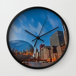 Chicago's Bean at Sunrise Wall Clock