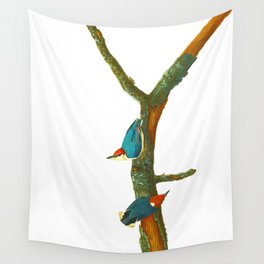 Turquoise Bird Wall Tapestry
