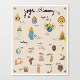 YOGA DICTIONARY Canvas Print