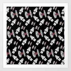 Tie Fighters-Black Art Print