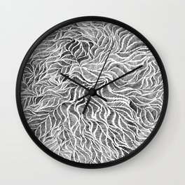 Embroidery Sketch Wall Clock