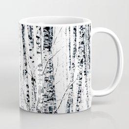 Birch Trees In Winter Coffee Mug