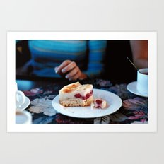 Coffee and Cake Art Print