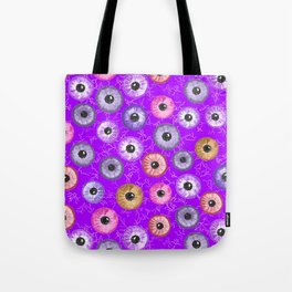 Ditsy Eyes (purples, blues, pinks, yellows) Tote Bag