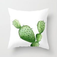 Cactus. Watercolor plant. Printable. cactus art, botanical art, southwestern art, green plants Throw Pillow