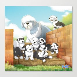 oes puppies Canvas Print