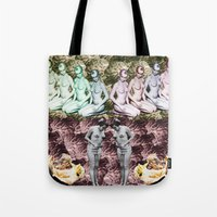 spanish Tote Bags featuring Spanish Band by Emilio Morones