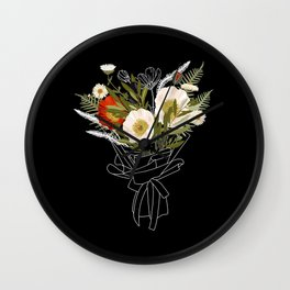 Cora Poppy Wall Clock