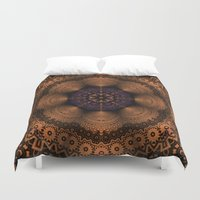 copper Duvet Covers featuring Copper Fantasia by Robin Curtiss
