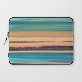 Sunset Glow Seascape with a Tree Lined beach Laptop Sleeve